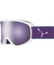 Cebe CBG60 Striker m hvid og violet - mørk rosa flash spejl skibriller