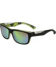 Bolle Jude mat sort kalk polariseret brune smaragd solbriller