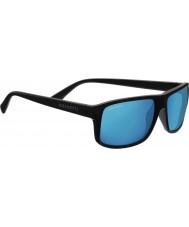 Serengeti Claudio satin mørkegrå polariseret 555 nm blå spejl solbriller