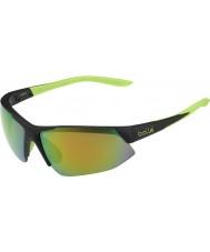 Bolle Breakaway mat sort kalk brun smaragd solbriller