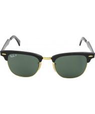 RayBan Rb3507 51 Clubmaster aluminium sort Arista 136-N5 polariserede solbriller