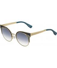 Jimmy Choo Ladies ORA-s psx u3 guld militære grønne solbriller