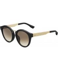 Jimmy Choo Ladies Pepy-s QFE jd sort rosa guld solbriller