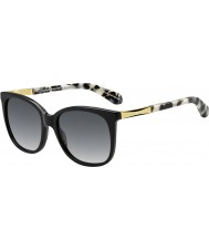 Kate Spade New York Dame Julieanna-s ANW f8 sorte guld solbriller