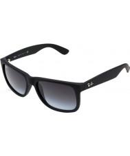 RayBan Rb4165 55 justin gummi sort 601-8g solbriller