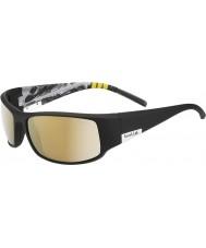 Bolle Kong skinnende sorte bjerg polariseret AG-14 solbriller