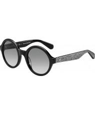 Kate Spade New York Dame khrista-s S2J O0 sort sølv glitrende solbriller