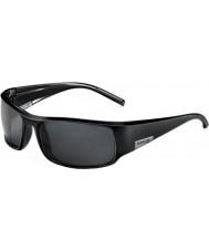 Bolle Kong skinnende sorte TNS-solbriller