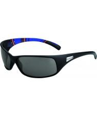 Bolle Recoil mat blå striber modulator polariseret grå solbriller