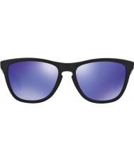 Oakley 24-298 Frogskins mat sort - violet iridium solbriller