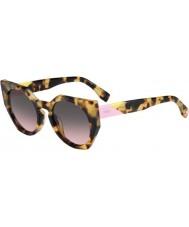 Fendi Facetter ff 0151-s 00f en plettet havana solbriller