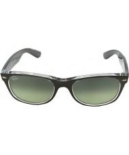 RayBan Rb2132-52 nye Wayfarer børstet rødgods på gennemsigtige 6143-71 solbriller