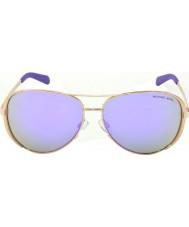 Michael Kors Mk5004 59 chelsea rosa guld 10034v lilla spejlede solbriller