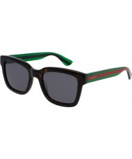 Gucci Mens gg0001s havana grønne solbriller