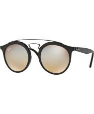 RayBan Rb4256 49 Gatsby mat sort 6253b8 grå spejl solbriller