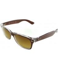 RayBan Rb2132 52 nye Wayfarer børstet brun på gennemsigtige 614585 solbriller