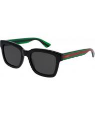 Gucci Mens gg0001s sort grønne solbriller